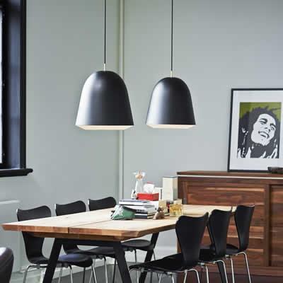 grote hanglampen keuken eettafel woonkamer