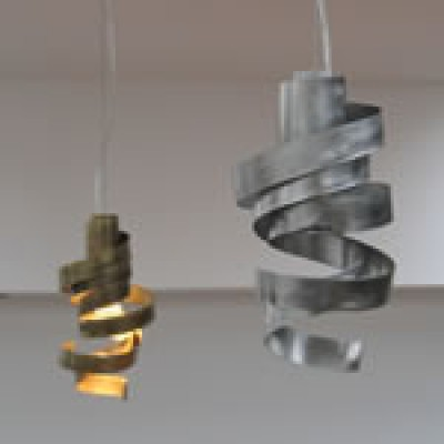 Mooie metalen lampen in rvs of messing