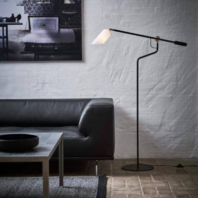 verstelbare LED leeslamp met glazen kap