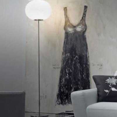 Klassieke glas staande lamp