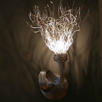 Fraaie aparte wandlamp