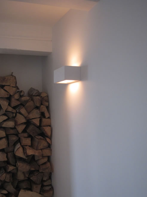 wandlampled halogeen led uplight downlight gips dimbaar