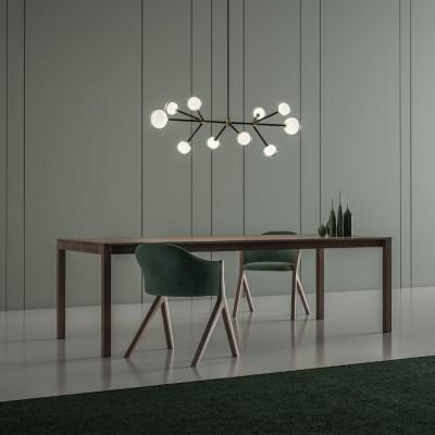 Elegante kroonluchters & hanglampen eettafel woonkamer