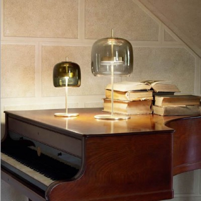 Glazen led tafellampen mondgeblazen woonkamer