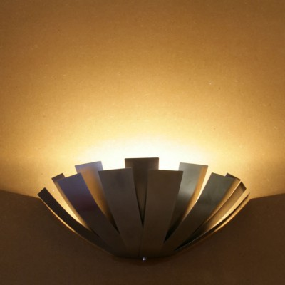 Wandlamp uplight rvs